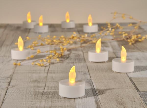 8x led teelicht fernbedienung teelichter inkl batterien. Black Bedroom Furniture Sets. Home Design Ideas
