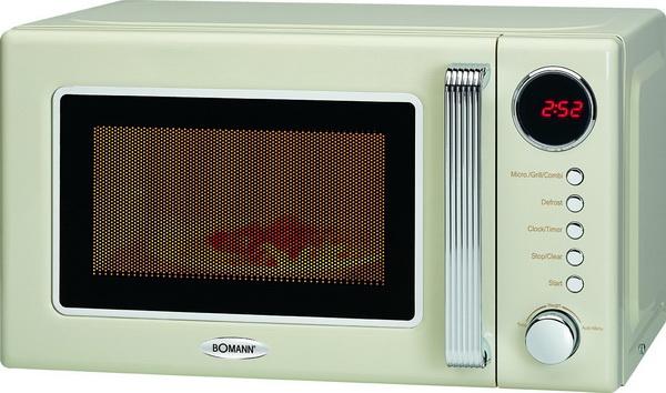 Retro Design Mikrowelle Grill Rost 25 Liter Glas Drehteller Uhr Kindersicherung