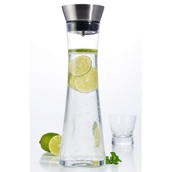 HI Wasserkaraffe aus Glas 1,3 Liter mit Ausgießer 13081