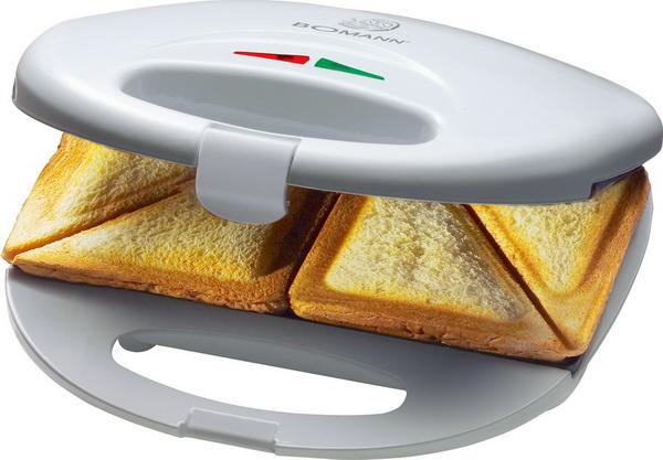 Bomann Sandwichtoaster / Sandwich-Toaster ST 5016 CB WEISS