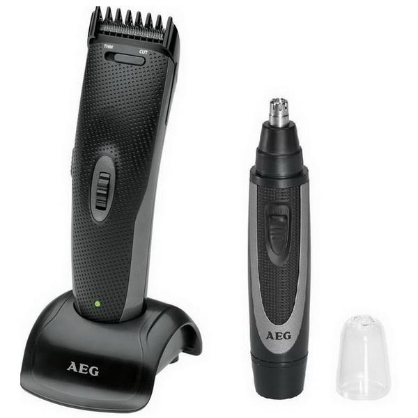 AEG 2in1-Set: Haarschneider HSM/R 5596 + Nasenhaarschneider NE 5609