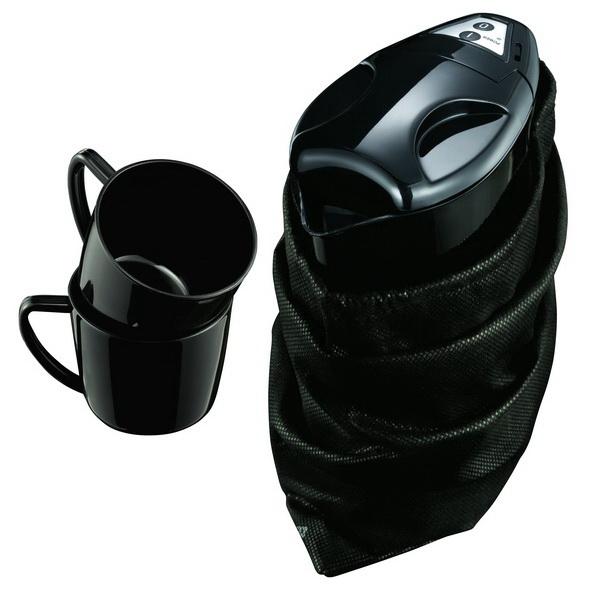 Melissa 0,9 L Reisewasserkocher mit 2 Tassen+Beutel 16-13-0287 schwarz