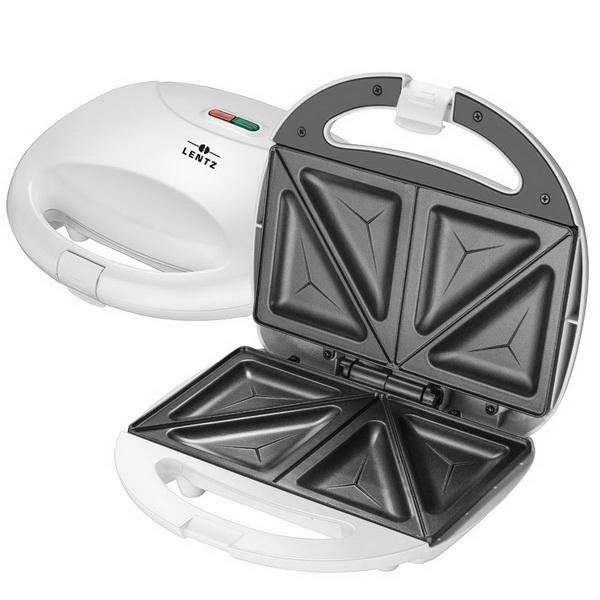 LENTZ 750 Watt Sandwich-Maker Sandwichtoaster Toaster 20915 weiß