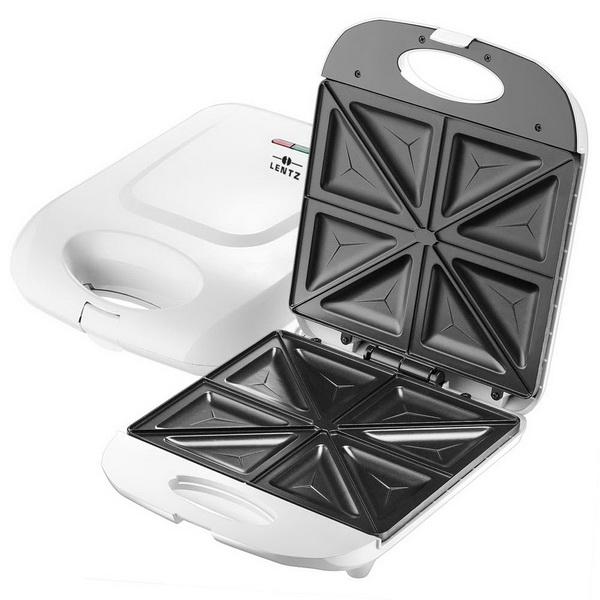 LENTZ 4-fach Sandwichtoaster Sandwich-Maker 29017 Weiß