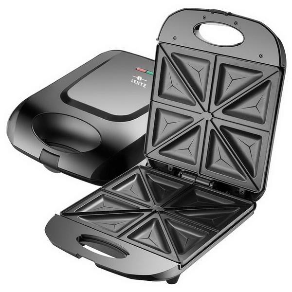 LENTZ 4-fach Sandwichtoaster Sandwich-Maker SCHWARZ 29018
