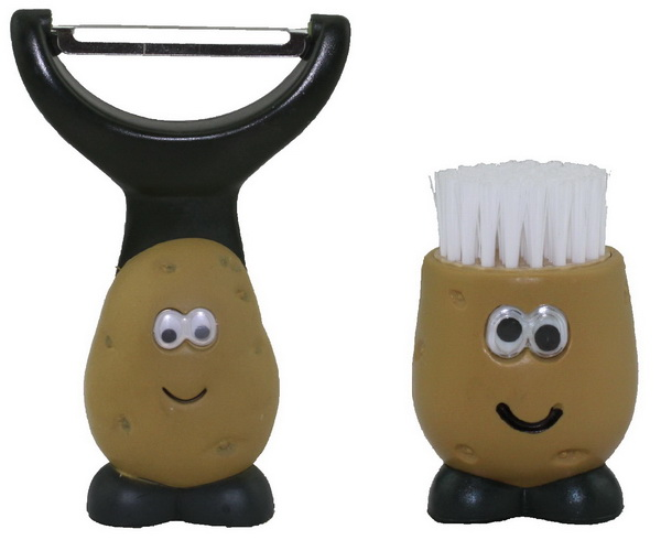 "joie Sparschäler + Gemüsebürste ""Kartoffel"" 63001+50366"
