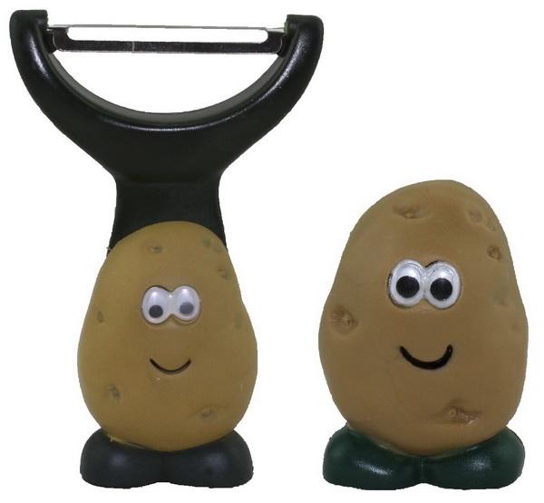 "joie Sparschäler + Gemüsebürste ""Kartoffel"" 50366+50740"