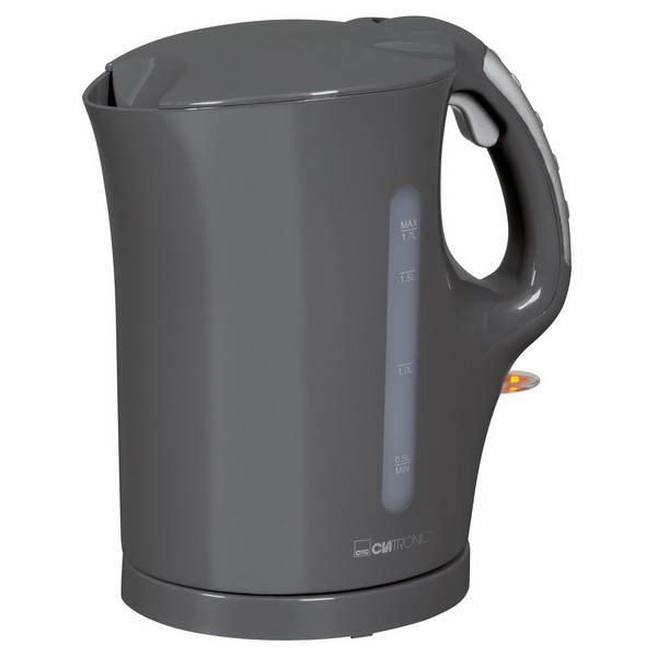 Clatronic 2200 Watt 1,7 Liter Wasserkocher WK 3445 grau